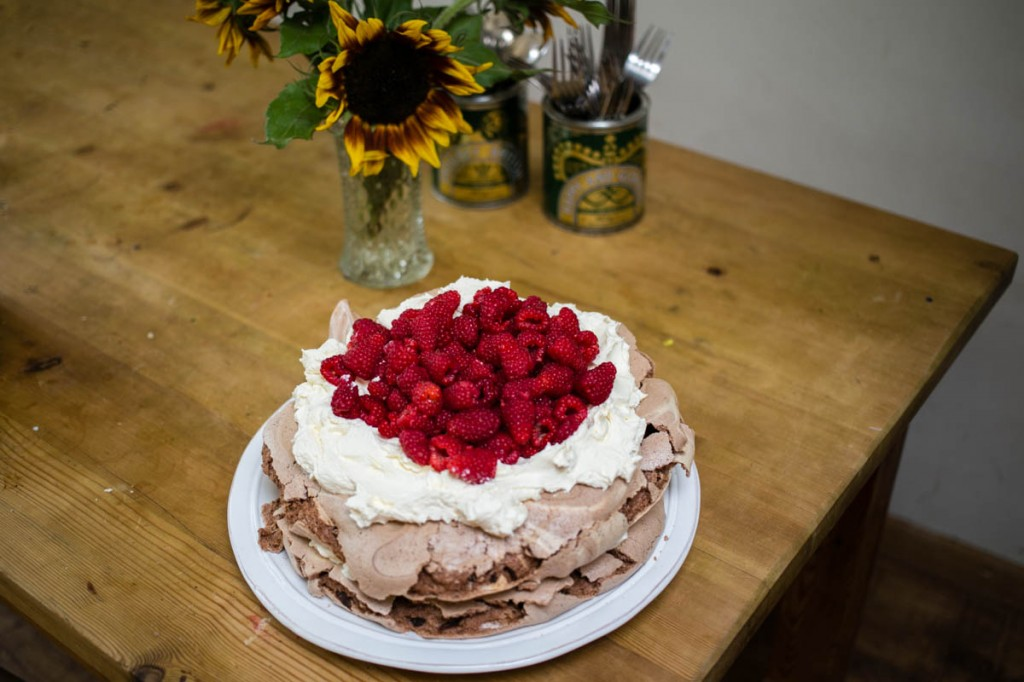 Chocolate and Raspberry Pavlova Recipe