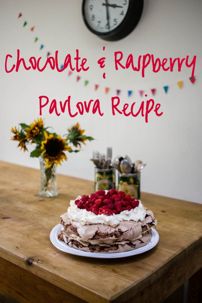 Chocolate and Raspberry Pavlova Recipe from Housewife Confidential so easy!