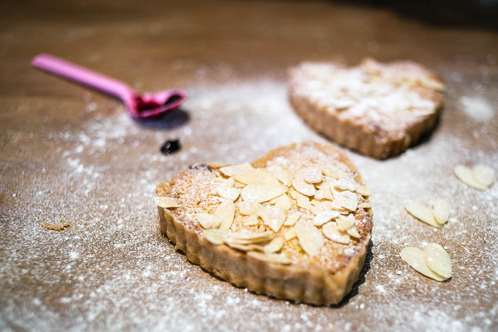 Mini Cherry Bakewell Tart Recipe from Housewife Confidential - so easy!