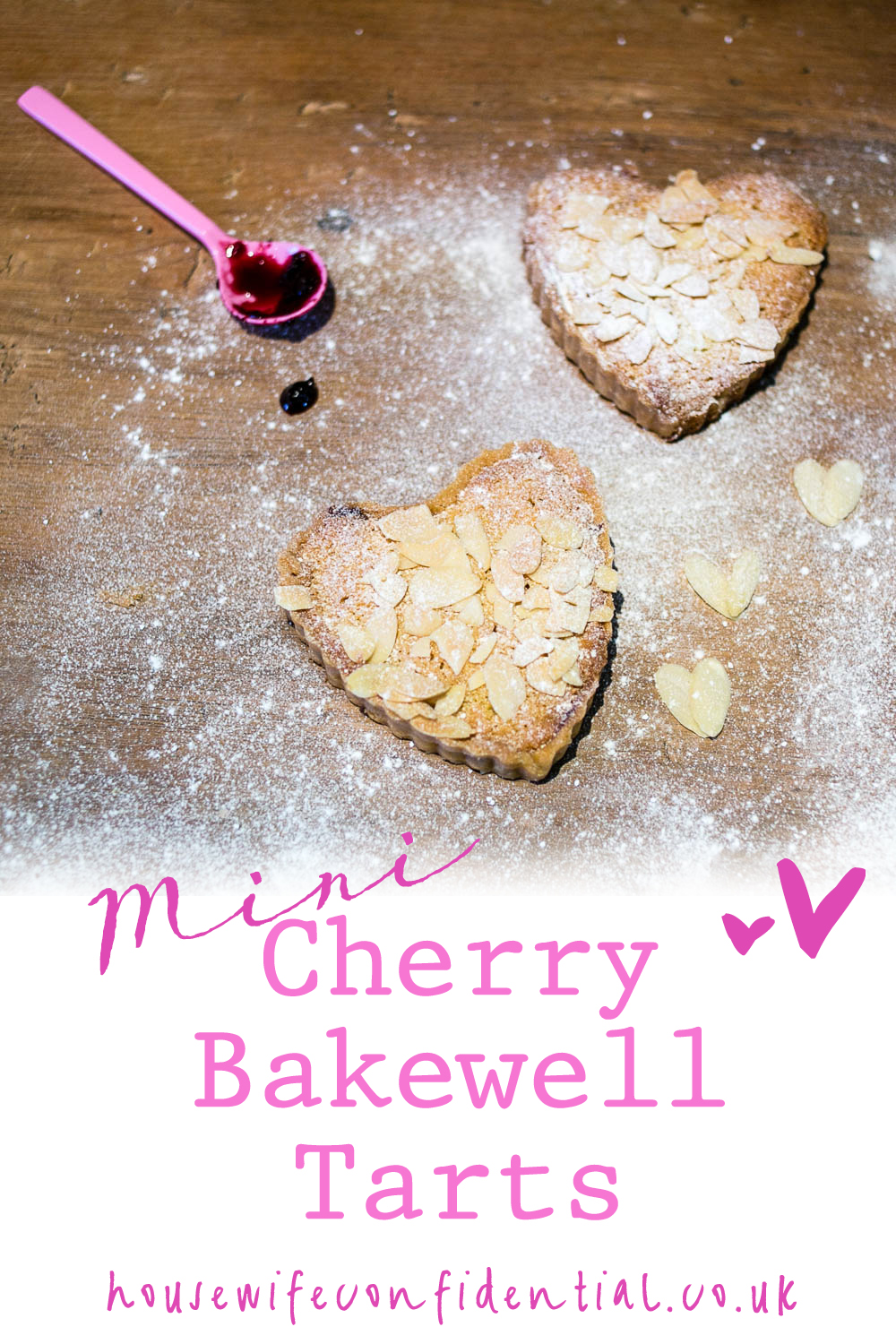 Mini Cherry Bakewell Tart Recipe - so perfect for a romantic dinner!