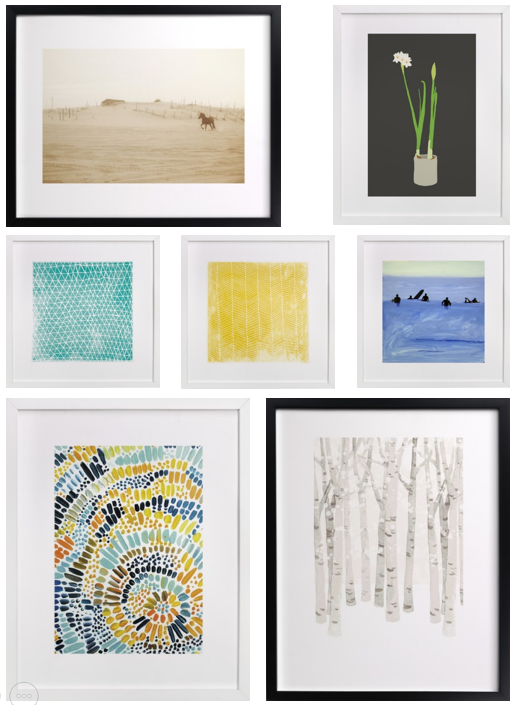 Minted Limited Edition Art Prints - great for adding interest to your walls