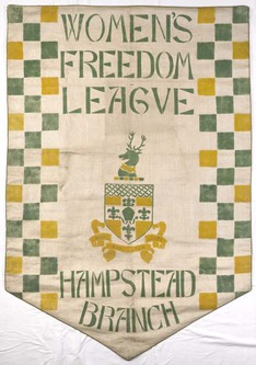 Suffragette Banner from Museum of London