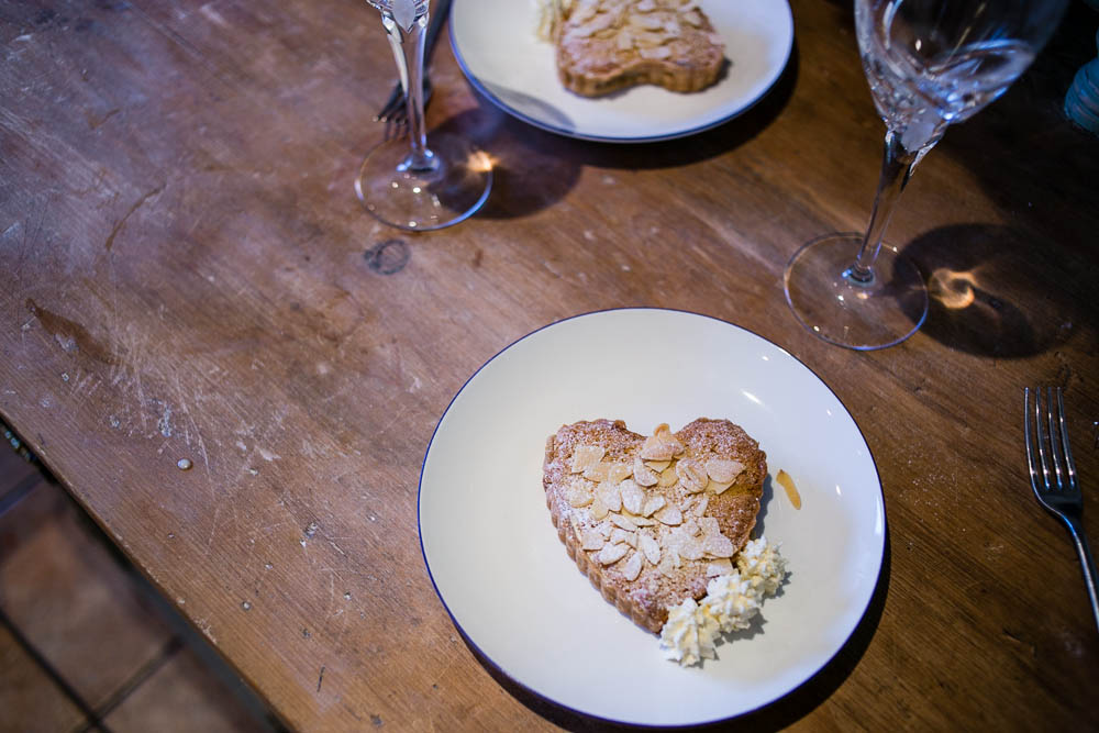 Valentine's Dessert Heart Shaped Bakewell Tarts with Chantilly Cream by Housewife Confidential