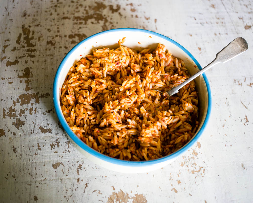 Roasted Pepper and Orzo Salad by Housewife Confidential-2