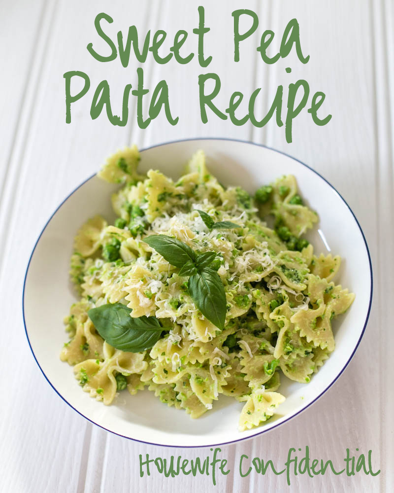 Sweet Pea Pasta Recipe Ten Minute Supper from Housewife Confidential