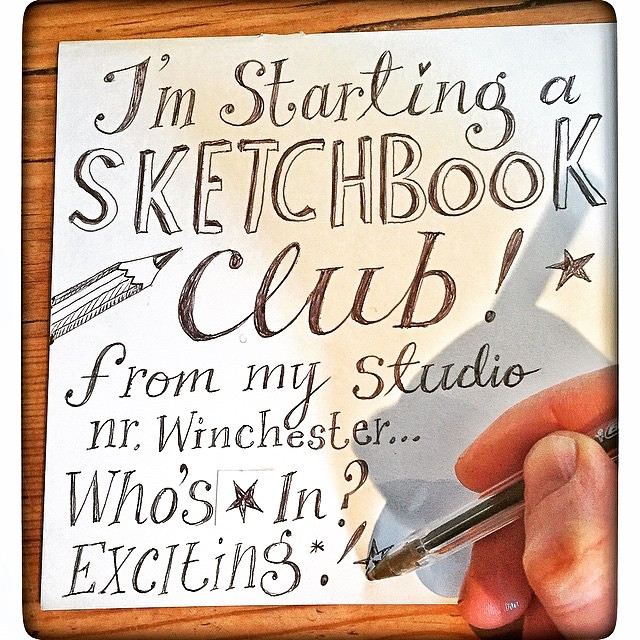 My friend @jenniemaizels is starting a Sketch Book Club at her studio near Winchester. I'm in, are you? Mail her for details x #sketchbookclub