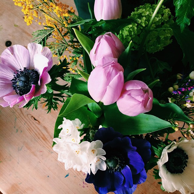 Nothing beats a pretty bouquet on the table.