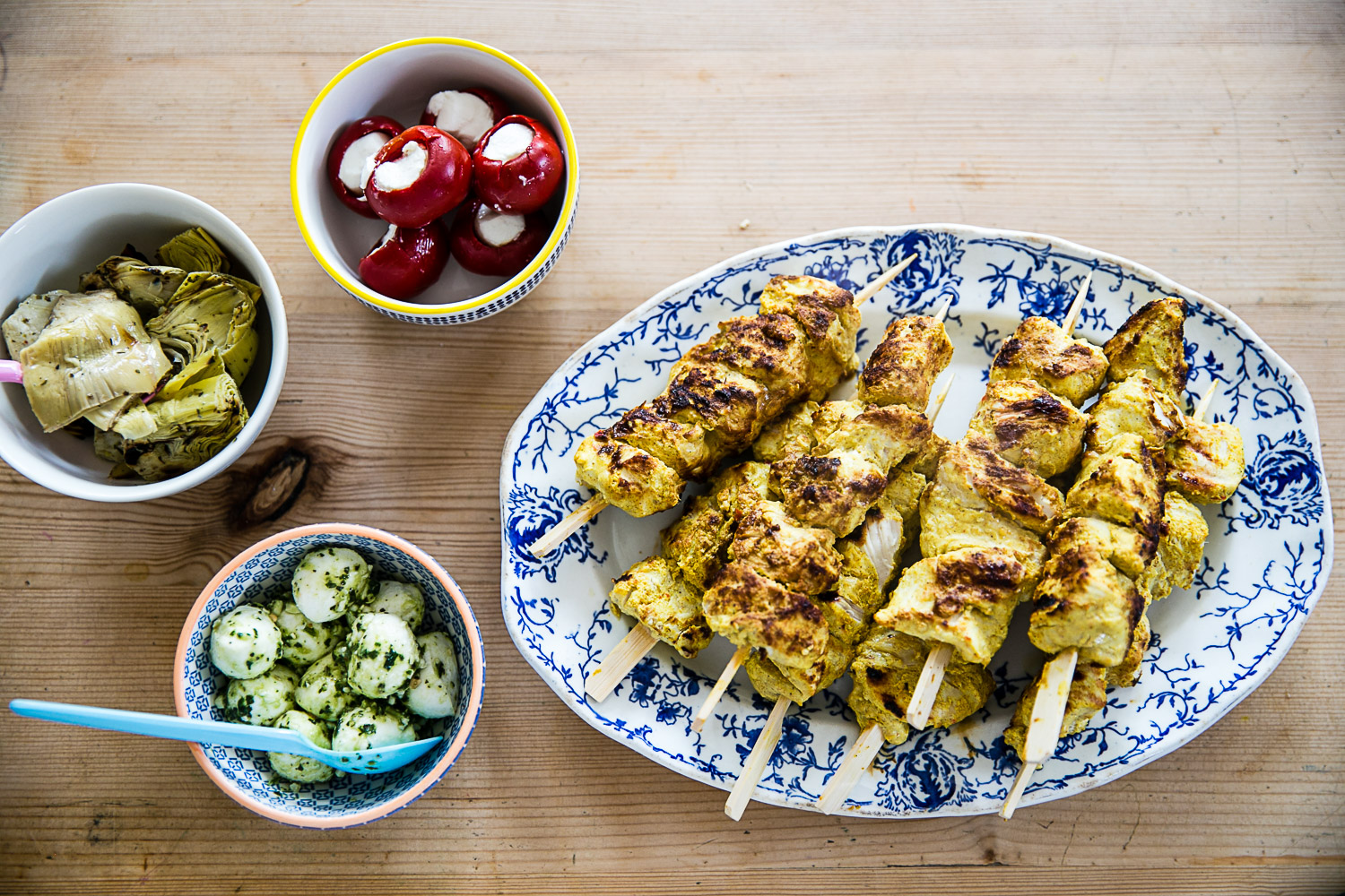 Chicken Tikka Skewers Recipe Easy Barbecue Summer Entertaining from Housewife Confidential