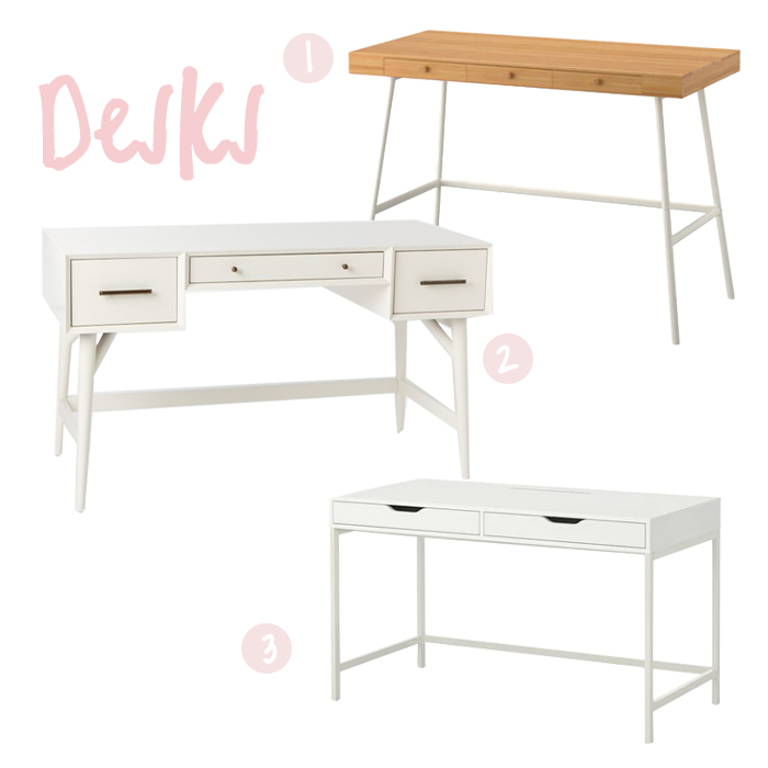 Desk Mood Board West Elm Ikea