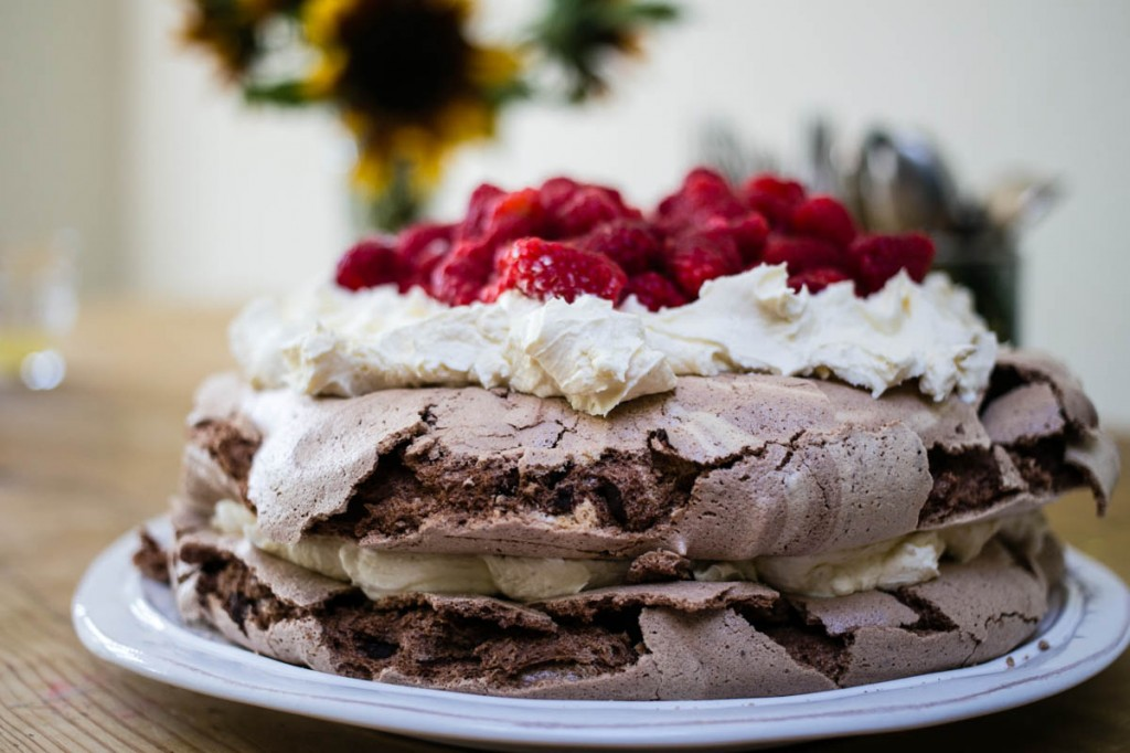 Chocolate and Raspberry Pavlova Recipe-6
