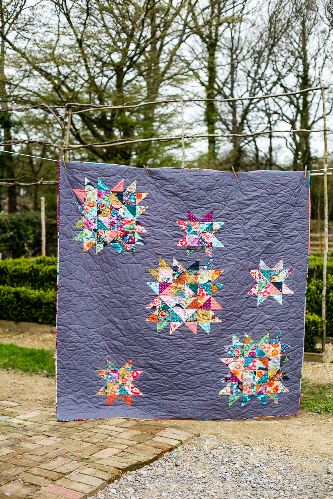 Wedding Constellation Quilt in Dowry by Anna Maria Horner made  by Housewife Confidential