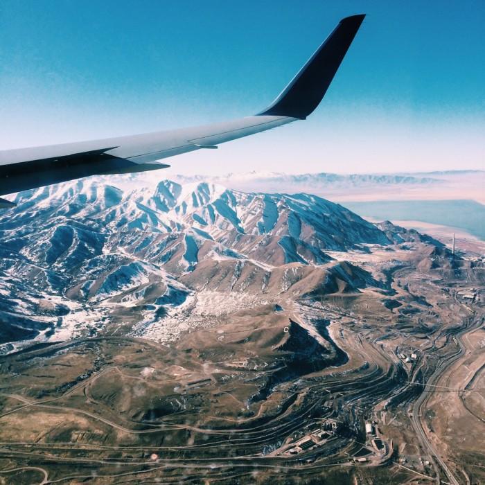 Plane over Salt Lake City