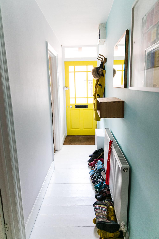 White Floor Boards in Hallway